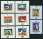 Ajman 577-584 deluxe  sheets Michel