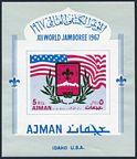 Ajman 182A-187A, 182B-187B, 188 Bl.15B, Bl.15C