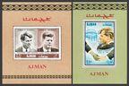 Ajman 299A-300,A, 299B-300B, 301-302 Bl.47-48