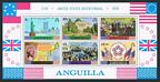 Anguilla 217-222, 222a sheet