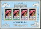 Anguilla 394-397, 397a sheet