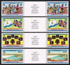 Anguilla 521-524 gutter, 525