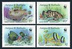 Antigua 1005 x4  Fish WWF
