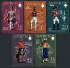 Antigua 262-266, 266a sheet