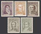 Argentina 418/424 5 stamps