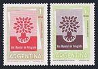 Argentina 710-711, B25 sheet