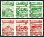 Australia 250-255a strips