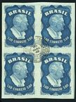 Brazil C76 block of 4 CTO