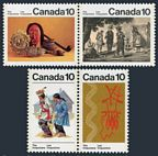 Canada 578-581a pairs