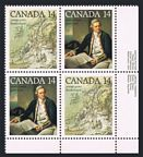 Canada 763-764a plate block/2 pairs