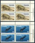 Canada 813-814 plate blocks/4
