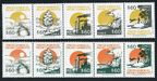 Chile 988-997a two strips