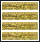 Dominica 1819-1820 sheets of 4 ae strips