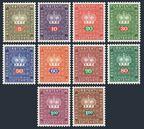 Liechtenstein O47-O54, O56-O57 (1968),
