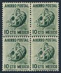 Mexico Postal Savings Mi P4 WMK 279 block/4