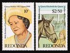 Antigua-Redonda 1980y Queen Mother,2/sheet
